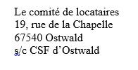 La lettre des locataires du 19 rue de la Chapelle
