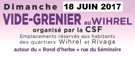 Vide grenier au Wihrel le 18 juin 2017