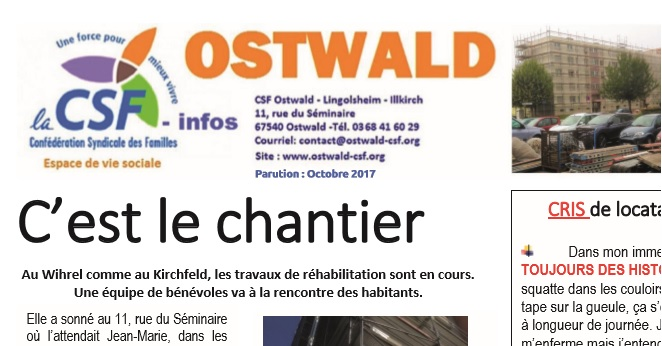 CSF - INFO / C'EST LE CHANTIER